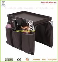 8 Pocket leather Sofa armrest Tv Remote Control Organizer caddy