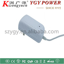White Housing 12V 1.5A power adaptor with UL PSE FCC CUL CSA certifications
