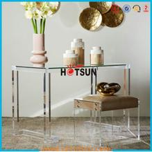 Customized fashionable acrylic dining tables acrylic furniture