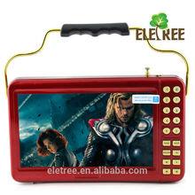 Guangzhou 7 pulgadas pmp mp5 reproductor digital con lector de tarjetas del tf EL-195K