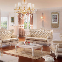 2015 New Model Luxury Modern Elegant Leather Fabric Wooden Victorian Living Room Sofa Furniture Set