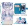 Cross Pattern Wallet Magnetic Flip TPU+ PU Leather Case for iPhone 5S 5 with Starp