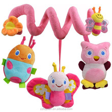 lovely new born baby plush bed winding& bed circling toys