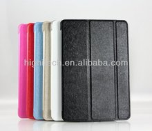 Foldable smart leather case for ipad mini w stand
