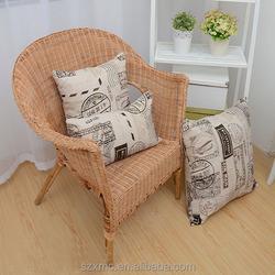 New home decor bed sofa pillow case cover world map design cushion cover retro style pillow case