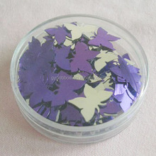 Purple&Silver Color Beautiful Butterfly shape Confetti for Valentine/Easter Party Decoration