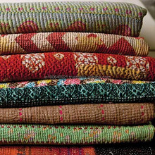 Quality Vintage Kantha quilt Indian Reversible Quilts Pure Cotton Made Kantha Quilt / Blanket / Throw Bedspread