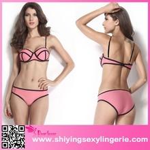 2015 New Arrival China Supplier Peach Neoprene Push up katrina kaif sexy xxx photo Bandage Bikini