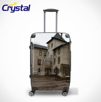 2015 Female and Ladies Hot Selling Airport Carry-on PC ABS Trolley Luggage with TSA Lock