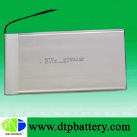 Data Power rechargeable ultra thin battery 3.7v 2100mah