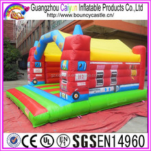 EN14960 Standard Fire Truck Inflatable Bounce House
