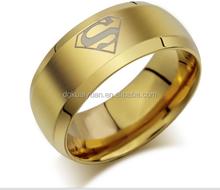 Wholesale 18k gold/white gold/black plated fashion superman wedding ring