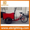 48V 250W plastic tray cargo bicycle trailer with high quality