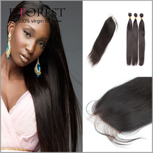 Brazilian Virgin Hair Straight with Closure Brazillian Hair Bundles with Lace Closures 3 pcs Human Hair Weave and Closures Piec