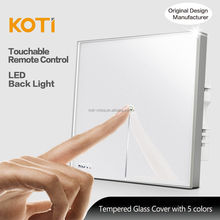 Koti 2 Gang Remote Control Energy Saving Smart Touch Screen Light Switch