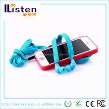 Plastic in ear shoelace earphone waterproof shoelace headphone