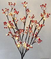 lighted christmas berry branch
