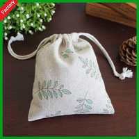 2015 New Product Cute Printed Recycle cotton shoe drawstring Bag