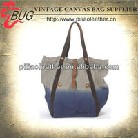 Canvas beach bag in dip-dye promotion for woman