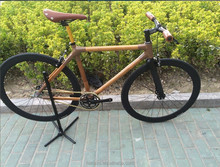 700C full aluminum alloy parts bamboo frame single speed fixed gear bike