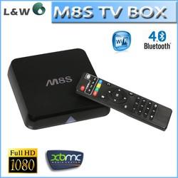 2015 best selling M8S box 4K UHD amlogic S812 quad core google tv box, m8s android tv box Kodi 14.2 and add-ons m8s tv box