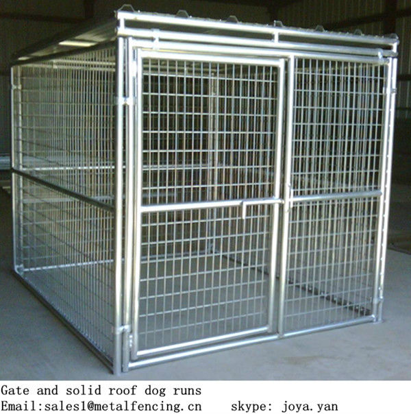 5'x10'x6' big dog house grampo conector cão corre sólida telhado dog kennels