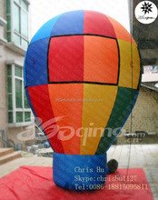 17' custom design inflatable hot air rainbow balloon for advertising