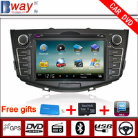 Bway In Dash 2 din Car PC stereo for Lifan X60 CAR DVD with GPS car Radio Bluetooth steering wheel