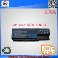 original battery for acer as07b41 6cell 14.4v 4400mah laptop battery for acer 5310 5315 5520 AS07B42