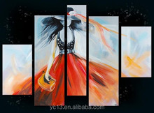 Bautiful African Woman Oil Painting On Canvas By Handmade With Canvas, Oil, Acrylic Material For Living Room Decoration