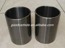 Tungsten carbide wear parts with polishing surface