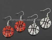 Rhinestone Sports Stud Earrings-Softball,Basketball,Football,Volleyball,Baseball