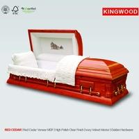 RED CEDAR io hawk cardboard caskets with casket interior decoration