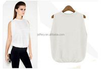 2015 newest western style elastic waist blouses fancy tops for women A781