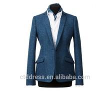 2015 nuevo diseño 100% de lana azul clásico traje de falda de la <span class=keywords><strong>mujer</strong></span> de la oficina de estilo uniforme