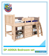 Children solid wood cabin beds with storage#SP-A006A