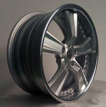 Brush And Silver Center Mirror Polish Lip Aluminum Wheel