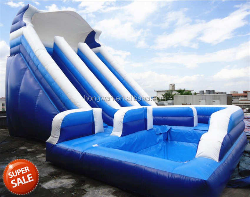 Commercial inflatable water park used swimming pool slide - Commercial swimming pool water slides ...