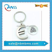 Custom Metal Shopping Cart Euro Coin Key Holder