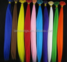 Fashion Straight Grizzly Feather Hair Extension Loop Hair Extensions