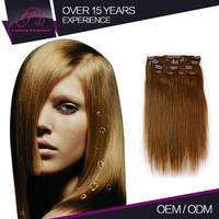 Wholesale No Tangling Superior Quality 100% Human Remy Clip In Straight Review 5A Unprocessed Hair