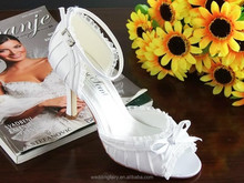 2015 New arrival middle heel bridal wedding shoes for bride