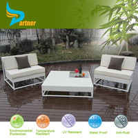 All weather Rattan Twin Sofa with Cushion Outdoor Rattan Garden Furniture
