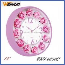 13 inch decorative flower luxury wall clock