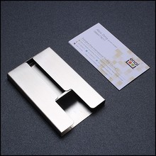 Silver color name card holder metal business card holder for office