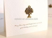 Único de encargo mini lindo blanco kraft tarjeta de felicitación de cumpleaños
