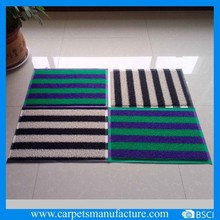 Stripe & rib Design pvc logo door mat
