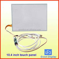 USB driver 10.4 inch 4 wirer resistive for 10.4 inch lcd wire touch screen