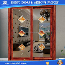 High quality double glazed tempered glass door price