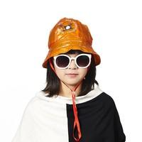 PVC printed children fashion rain hat